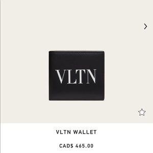 Authentic men's Valentino Wallet